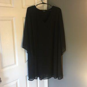 Torrid cold shoulder black dress